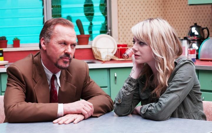 BIRDMAN, (aka BIRDMAN OR (THE UNEXPECTED VIRTUE OF IGNORANCE), from left: Michael Keaton, Emma