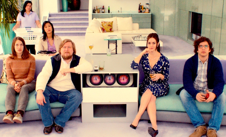 This photo provided by Fox Searchlight Pictures shows, Lola Kirke, from left, as Tracy, Cindy Cheung as Karen, Michael Chernus as Dylan, Heather Lind as Mamie-Claire and Matthew Shear as Tony in a scene from