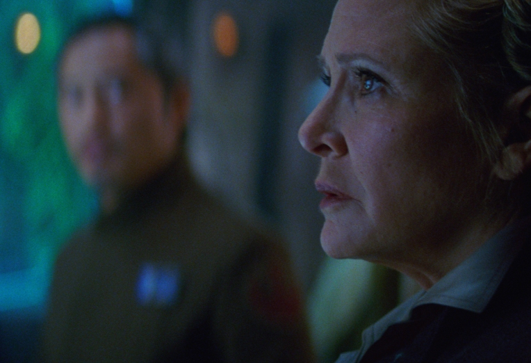Carrie Fisher plays Leia in STAR WARS: THE FORCE AWAKENS. ©Lucasfilm.