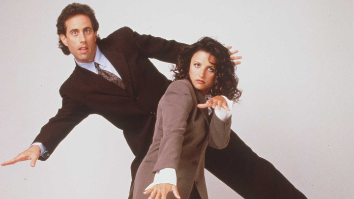 1997 Jerry Seinfeld and Julia Louis-Dreyfus from the show