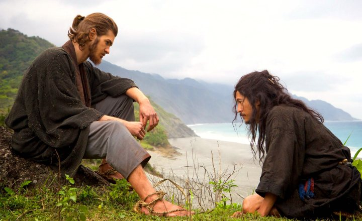 Silence (2017) Andrew Garfield as Father Rodrigues and Yosuke Kubozuka as Kichijiro